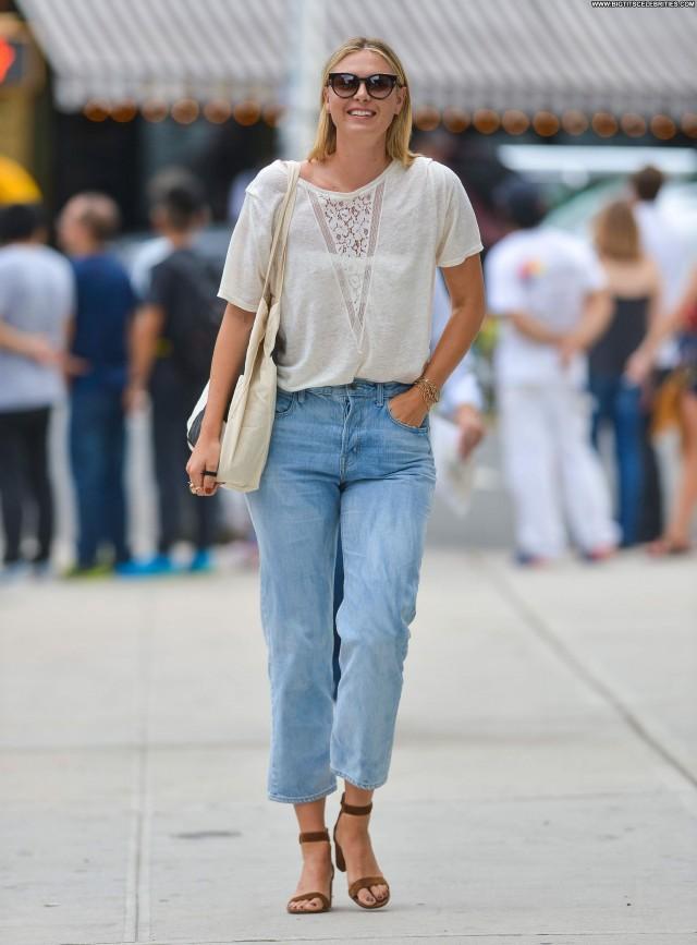 Maria Sharapova Manhattan  Celebrity Fashion Posing Hot Stunning