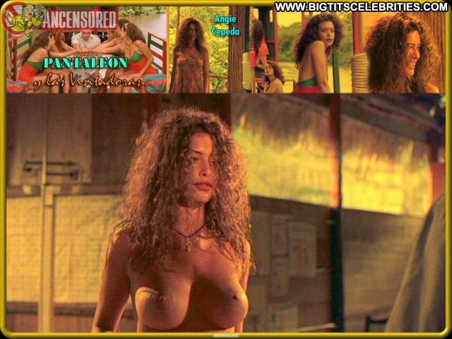 Angie Cepeda Pantale Stunning Celebrity Posing Hot Latina Brunette