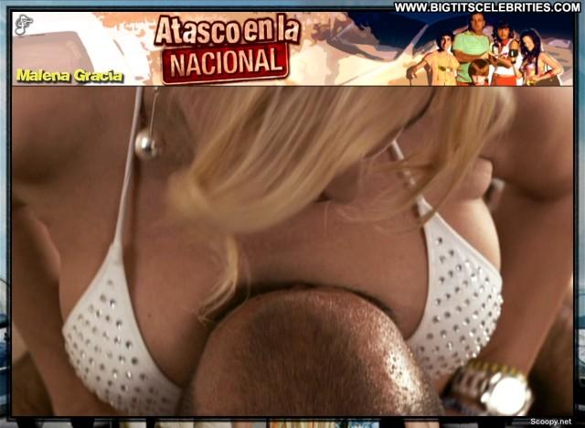 Malena Gracia Atasco En La Nacional International Latina Celebrity