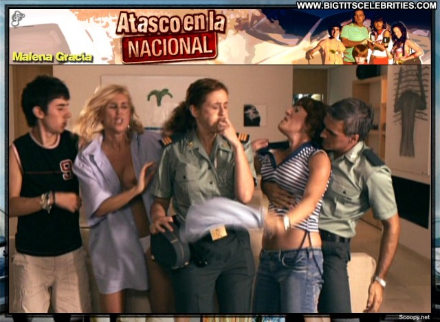 Malena Gracia Atasco En La Nacional Stunning Blonde Celebrity Big
