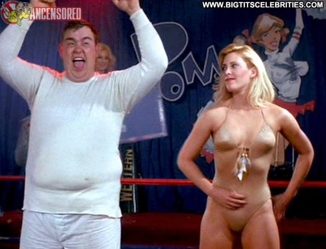 Dawn Clark Stripes Posing Hot Big Tits Blonde Sensual Beautiful