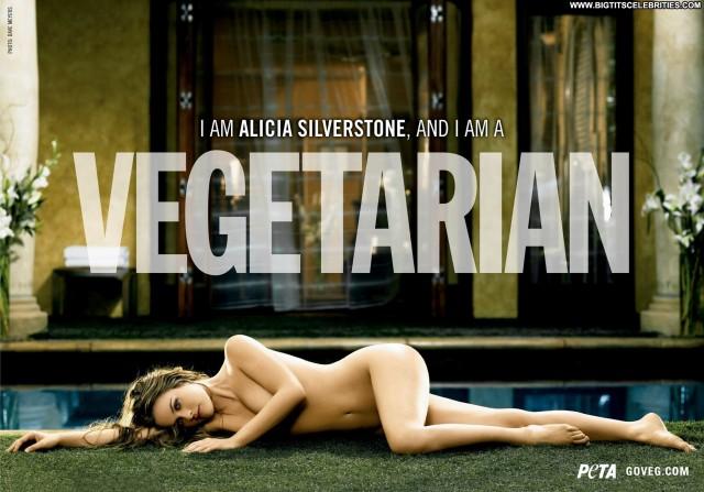 Alicia Silverstone Peta Advertisement Medium Tits Stunning Celebrity