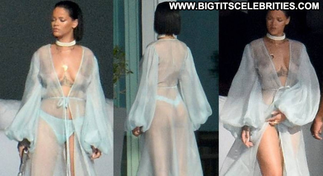 Rihanna No Source  Celebrity Beautiful Posing Hot See Through Babe
