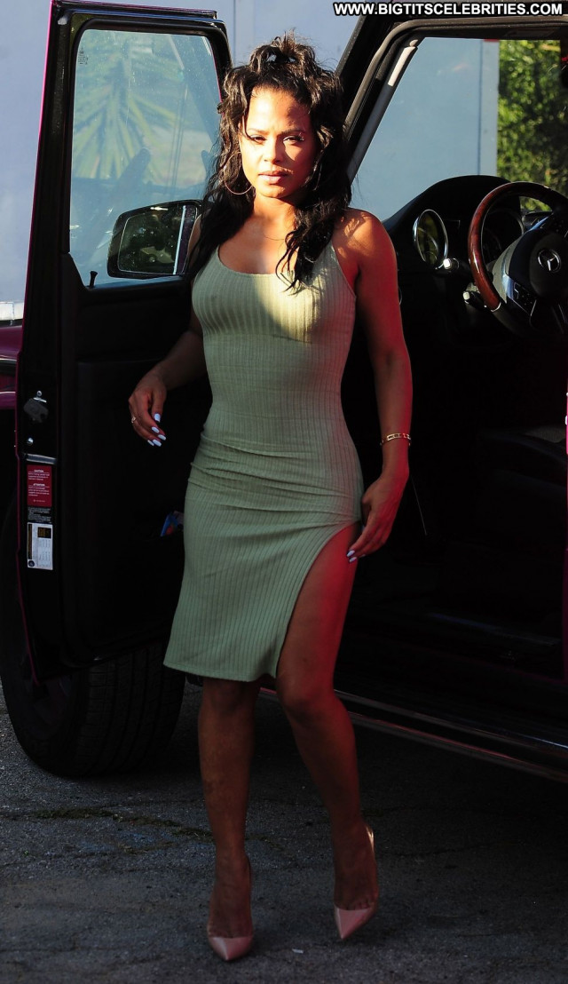 Christina Milian No Source Babe Braless Posing Hot Celebrity Pokies