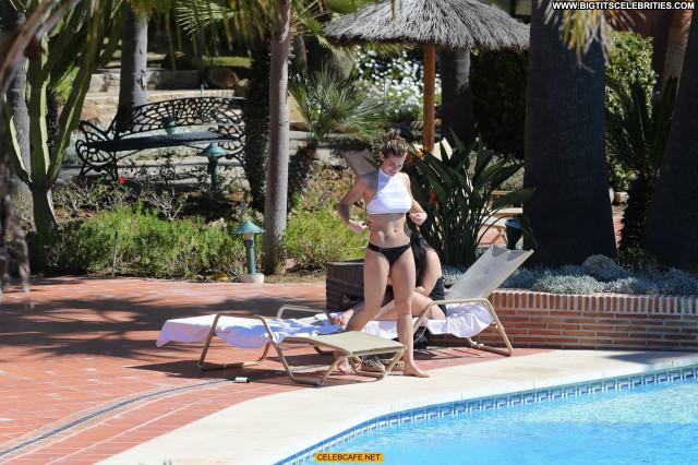Gemma Atkinson No Source Bikini Poolside Posing Hot Babe Celebrity