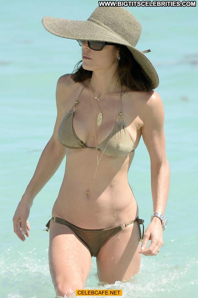 Bethenny Frankel The Beach Bikini Posing Hot Beautiful Celebrity