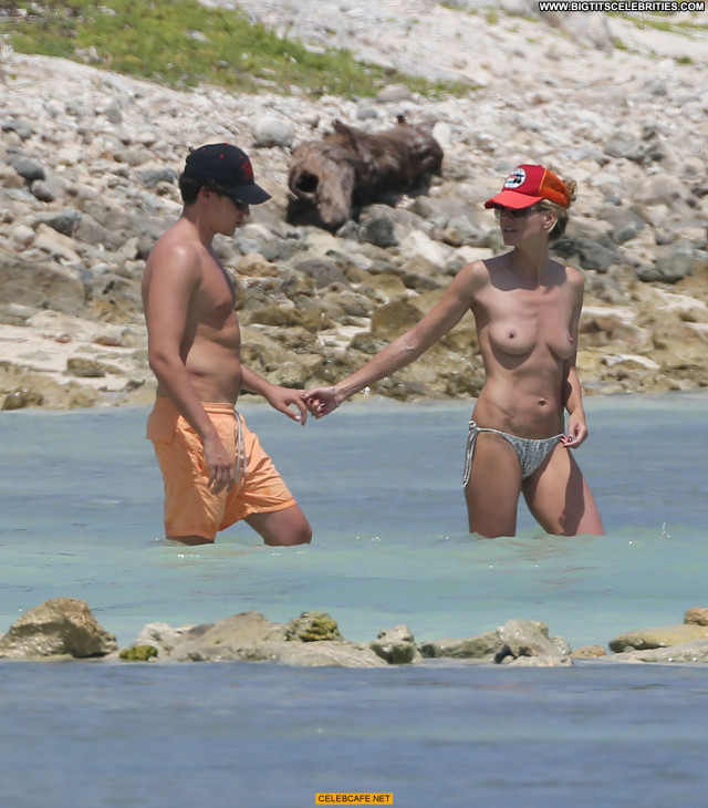 Heidi Klum No Source Beach Toples Beautiful Babe Celebrity Topless