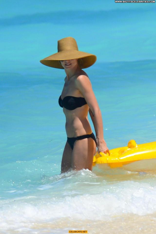Heidi Klum No Source Posing Hot Beach Beautiful Bikini The Bahamas