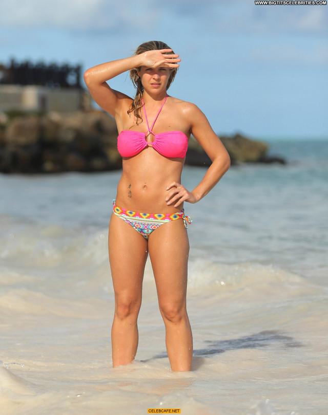 Gemma Atkinson The Beach Celebrity Babe Bikini Posing Hot Beach Sexy