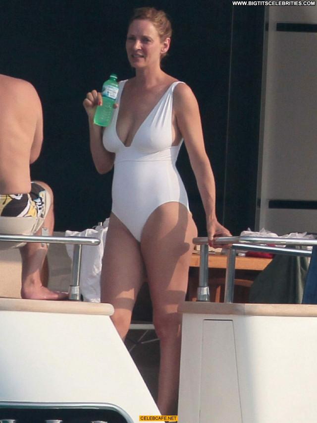 Uma Thurman No Source Yacht Beautiful Celebrity Posing Hot Saint
