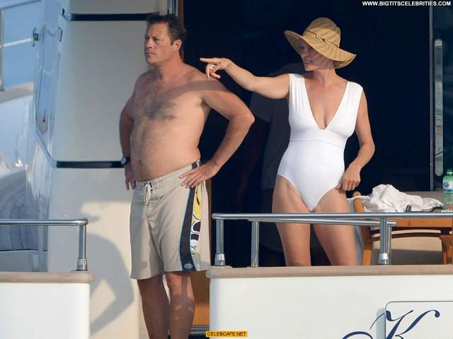 Uma Thurman No Source Saint Tropez Celebrity Babe Beautiful Posing