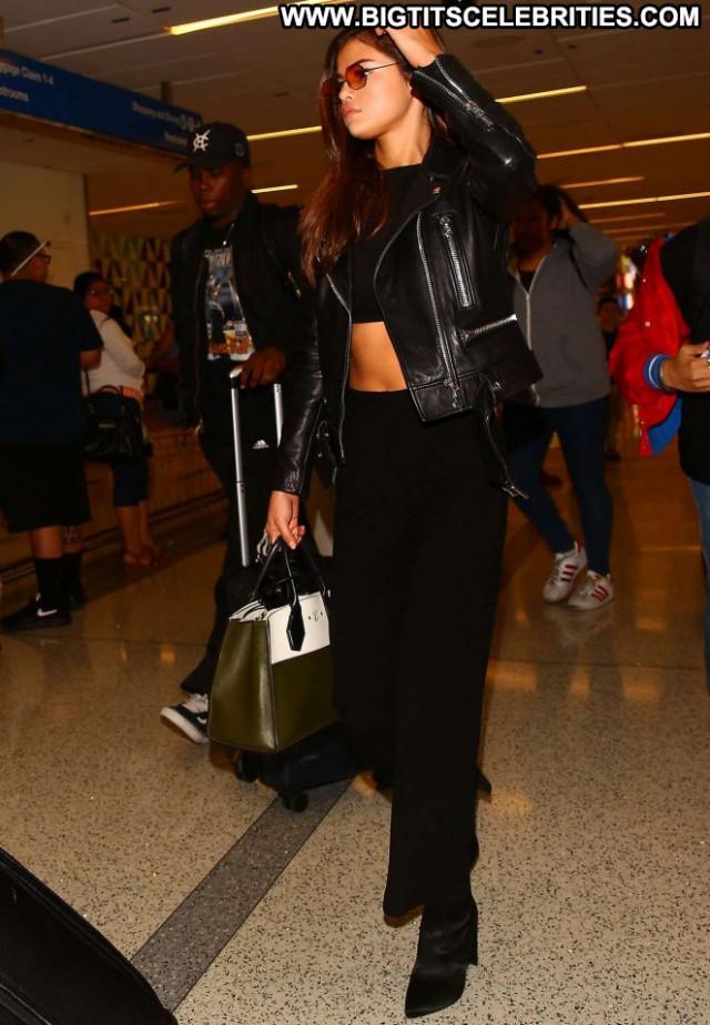 Selena Gomez Lax Airport Babe Los Angeles Beautiful Angel Celebrity