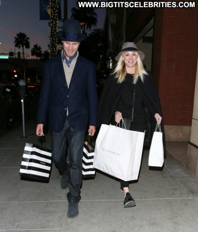 Kaley Cuoco Beverly Hills Beautiful Celebrity Paparazzi Babe Shopping
