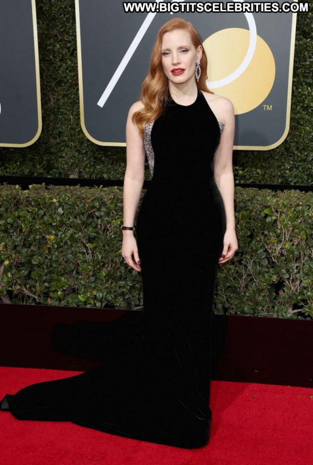 Jessica Golden Globe Awards Awards Babe Beautiful Celebrity Paparazzi