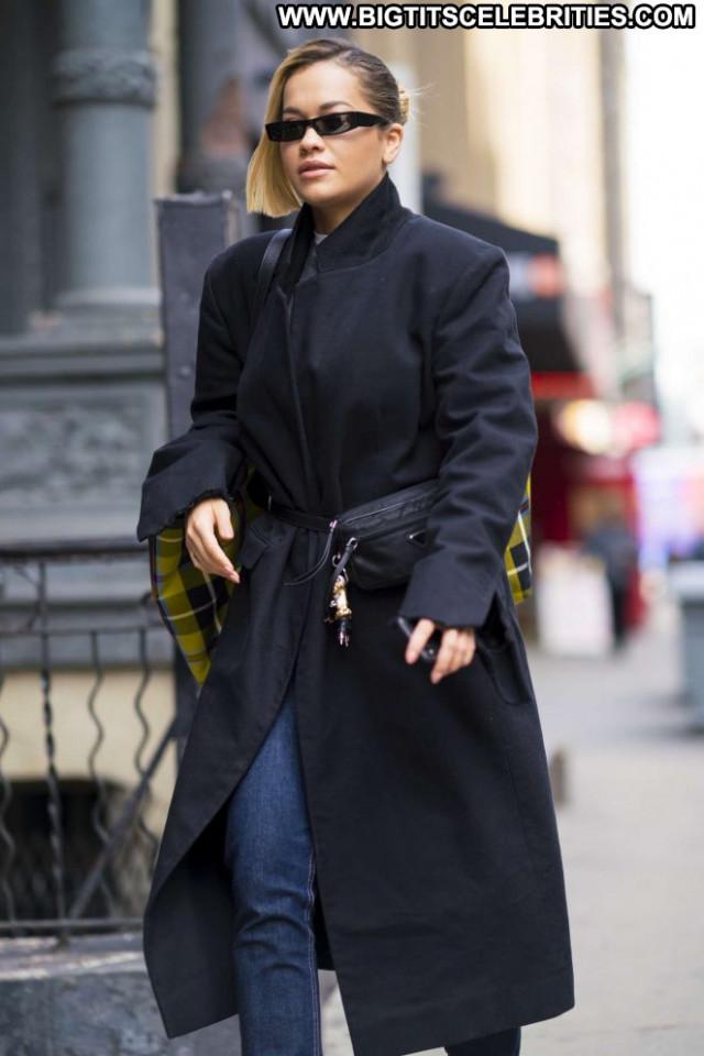 Rita Ora New York Babe Paparazzi Beautiful New York Celebrity Posing