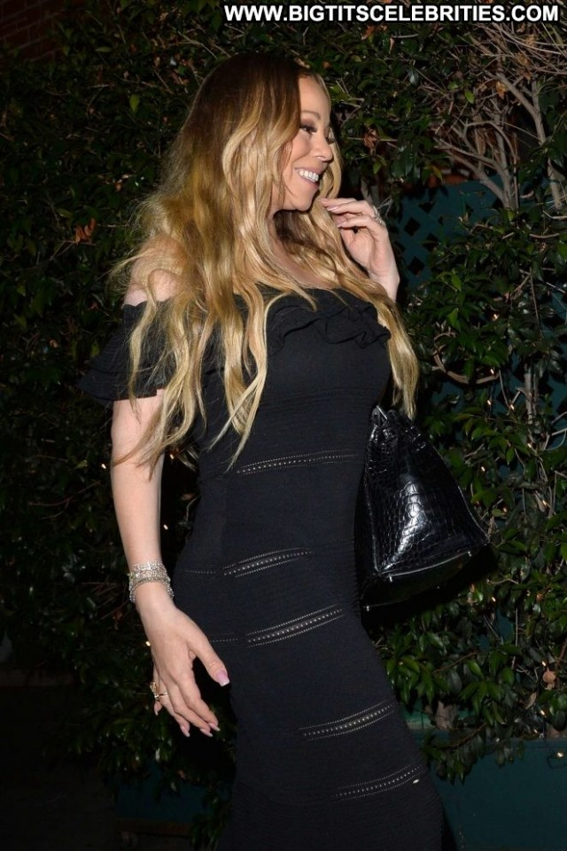Mariah Carey Beverly Hills Restaurant Posing Hot Babe Car Beautiful