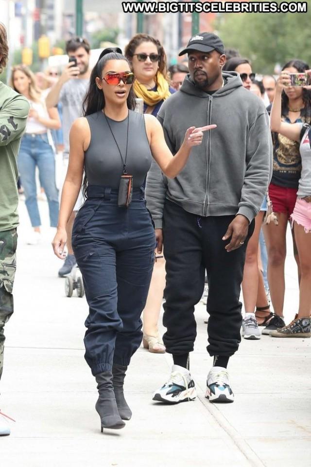 Kim Kardashian No Source Celebrity Posing Hot Beautiful Nyc Paparazzi