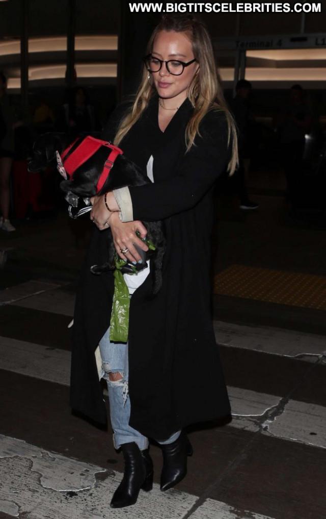 Hilary Duff Lax Airport Celebrity Babe Beautiful Paparazzi Lax