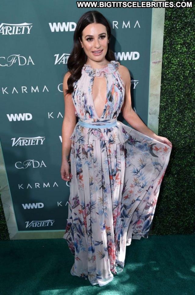 Lea Michele Red Carpet Beautiful Car Babe Paparazzi Posing Hot