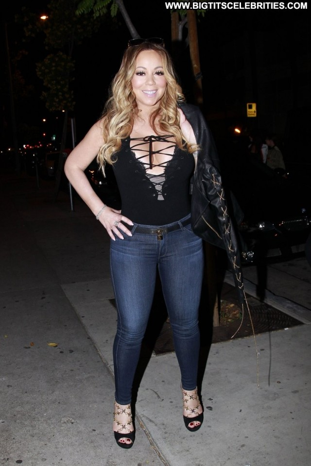 Mariah Carey West Hollywood Beautiful Babe Cleavage Celebrity Old